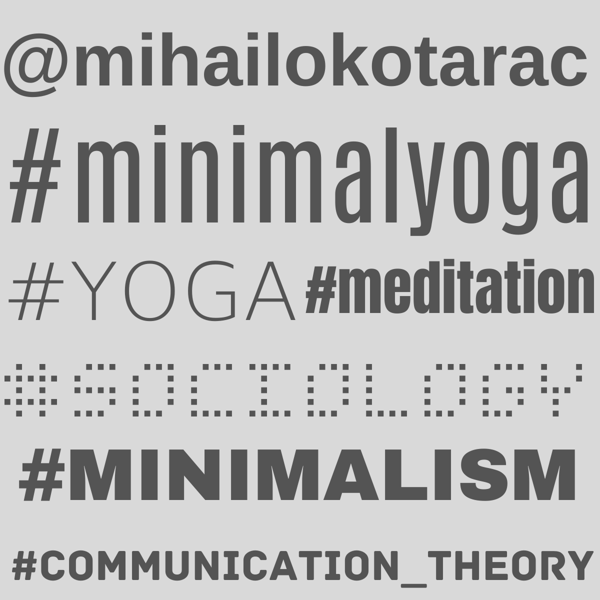 Mihailo Kotarac - Minimal Yoga - English